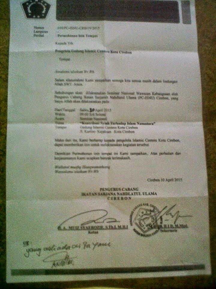 """Dinilai """"Jual NU Ke Syiah"""", """"Pendekar ASWAJA"""" Kritik NU Cirebon"""