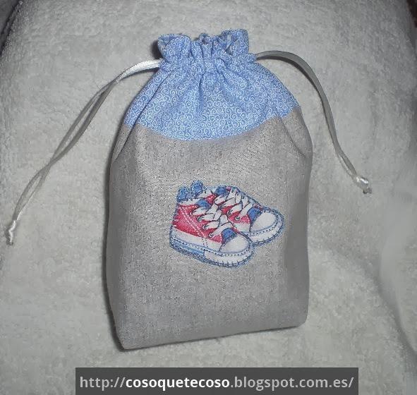 Cosoquetecoso bolsa de zapatos para beb en tonos azules - Baldas para zapatos ...