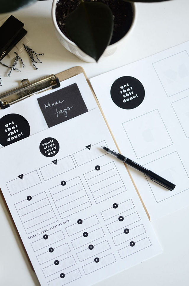 goal planning printable
