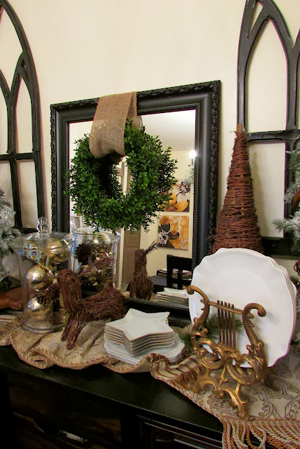 Christmas Holiday Rustic Dining Room