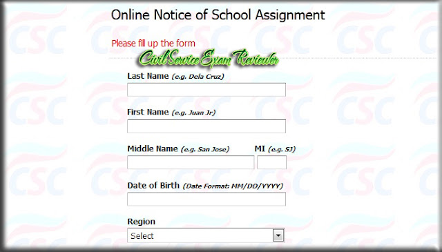 Online Notice of School Assignment