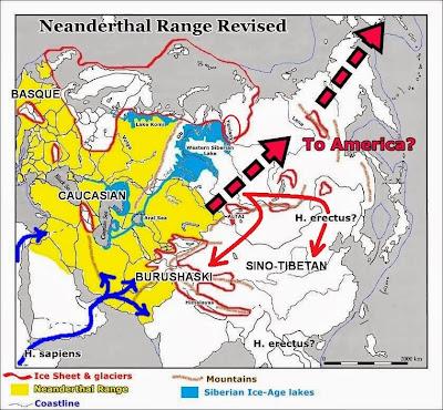 Neanderthal dispersion map