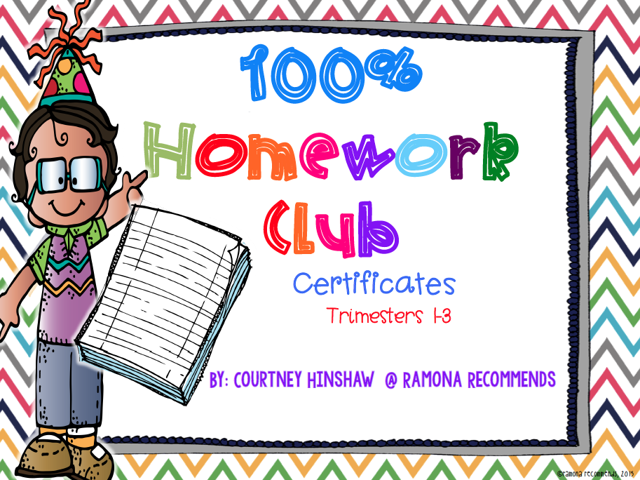 http://www.teacherspayteachers.com/Product/100-Homework-Club-Certificates-1644786