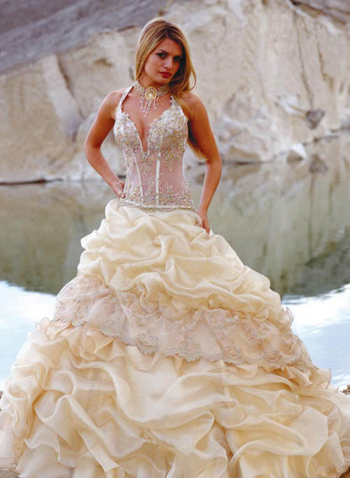 Strapless Wedding Dress For Large Bust