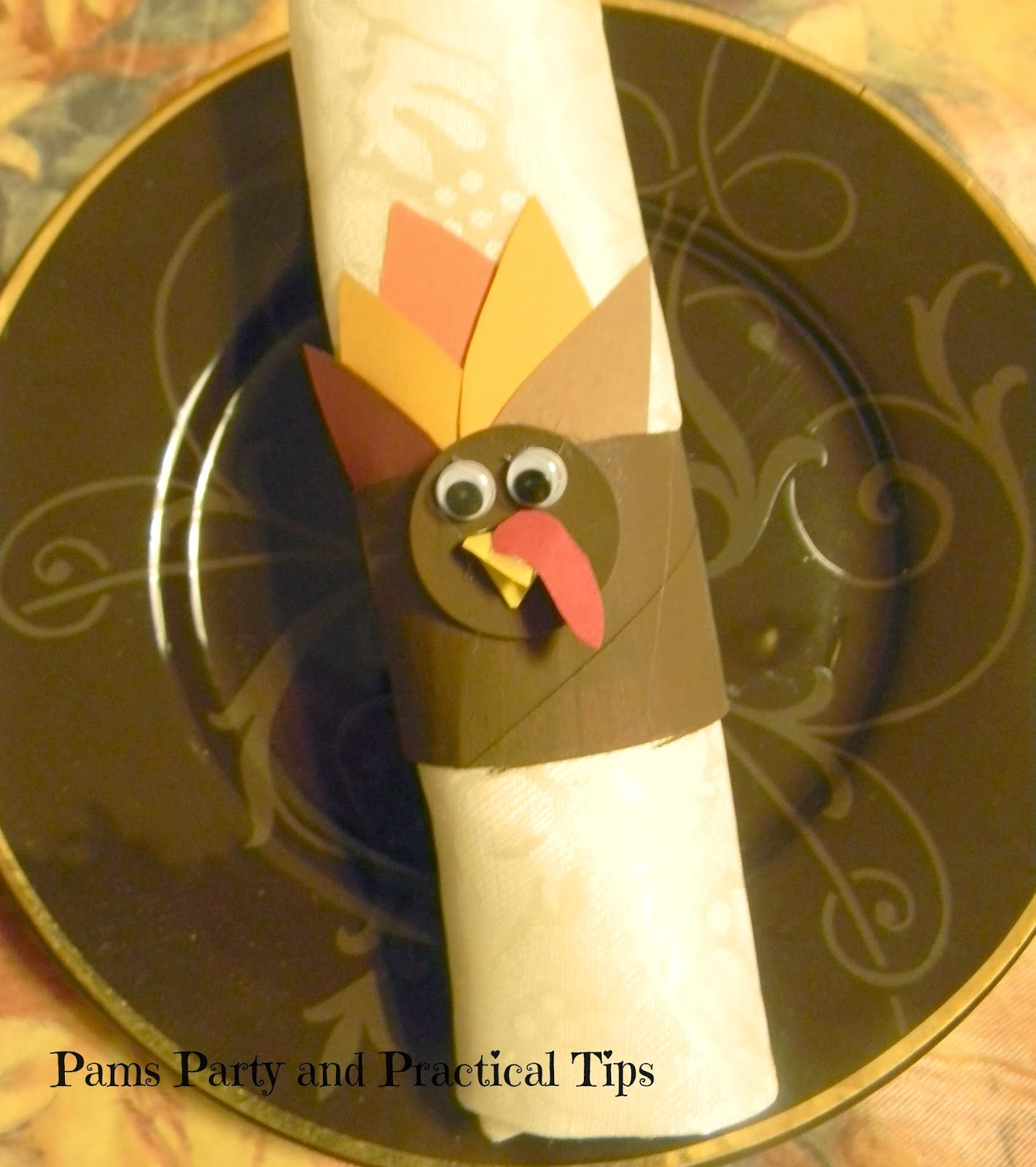 pams party practical tips turkey napkin rings. Black Bedroom Furniture Sets. Home Design Ideas