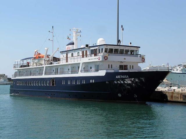 Arethusa cruise ship, IMO 9398022, port of Livorno