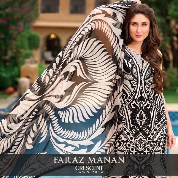 FarazMananCrescentLawn2014 wwwfashionhuntworldblogspotcom 08 - Faraz Manan Crescent Lawn 2014