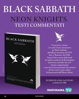 BLACK SABBATH NEON KNIGHTS TESTI COMMENTATI CON TV SORRISI E CANZONI E PANORAMA
