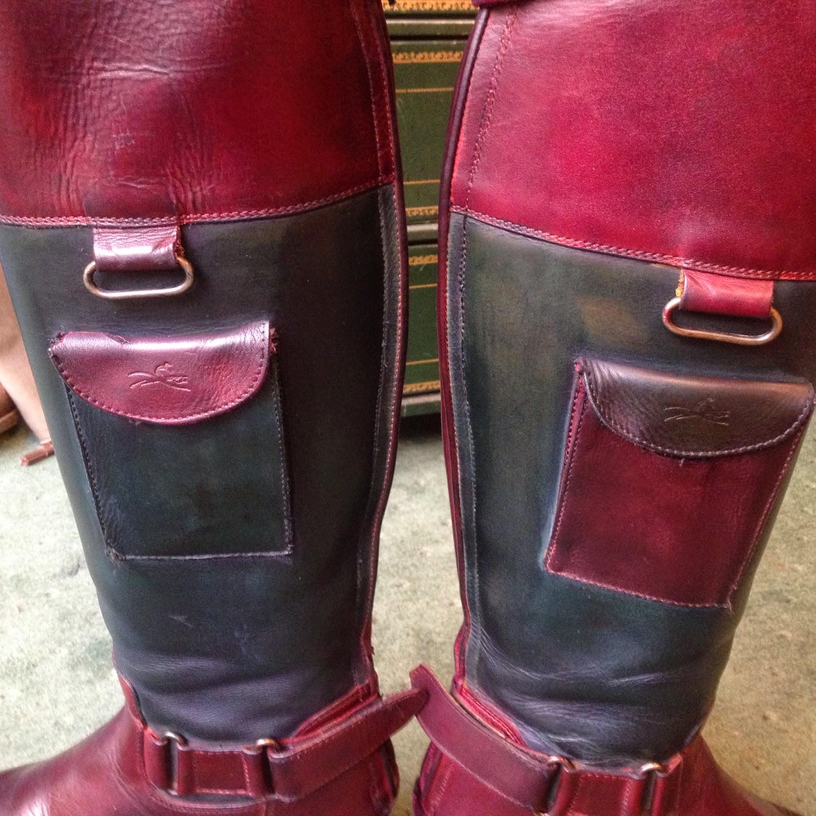salon cireur talon rouge paris quelques heures de r alisation pour cette paire de bottes. Black Bedroom Furniture Sets. Home Design Ideas