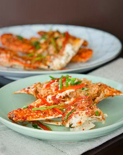 Fried Crabs with Chili Sauce - Ghẹ Sốt Ớt