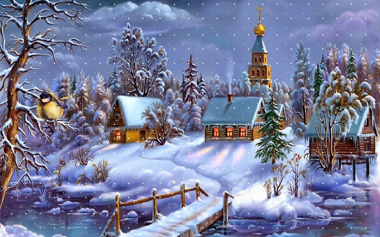 desktop backgrounds 4u  christmas scenes
