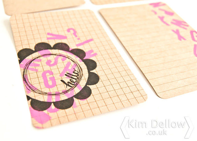 Sneak peek of mixed media journal cards tutorial on the Blitsy Blog
