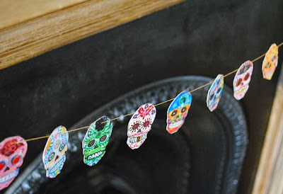 Day of the dead Halloween garland | Make do mum