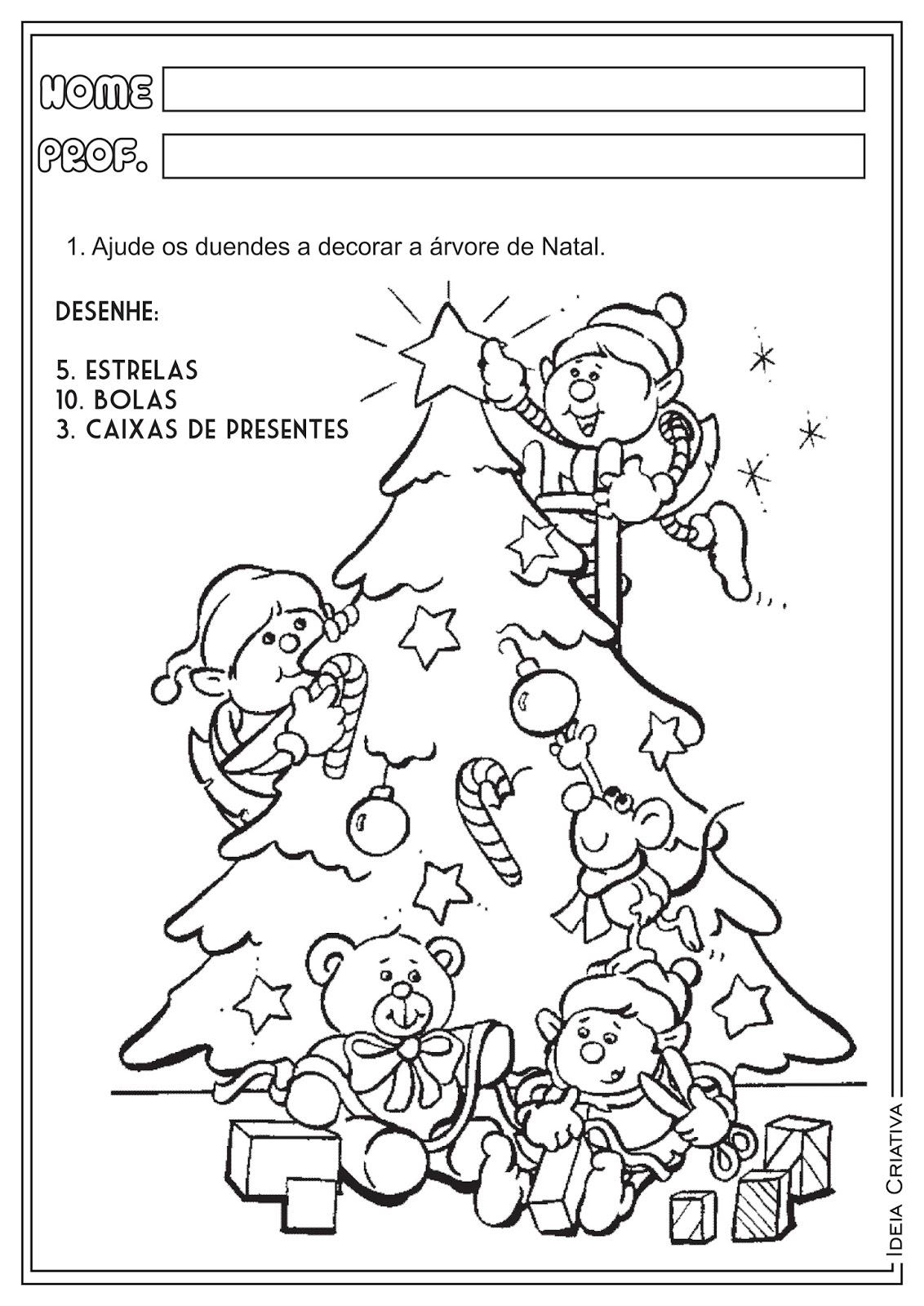Atividades Natal Adição Número e Quantidade