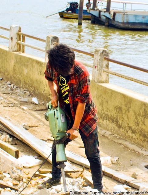 Thai construction worker