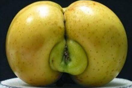 funny apple shape