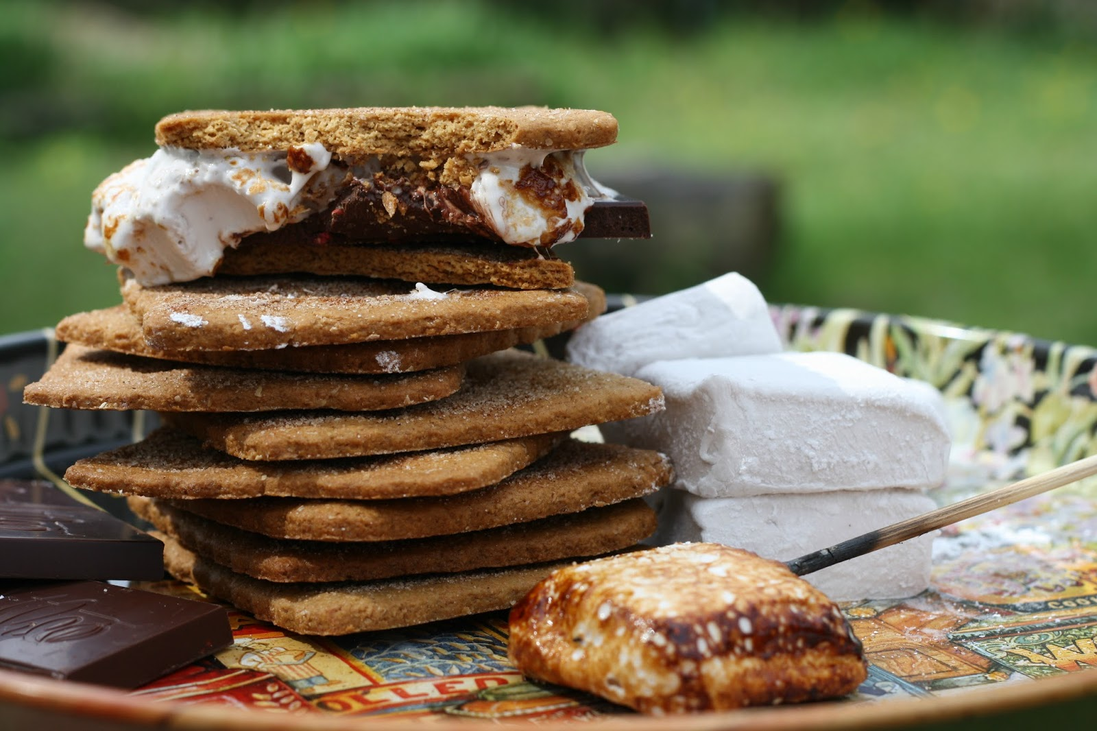 Raspberry-laced S'mores, using homemade graham crackers, homemade ...