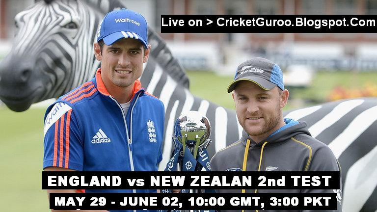 England vs New Zealand 2nd Test