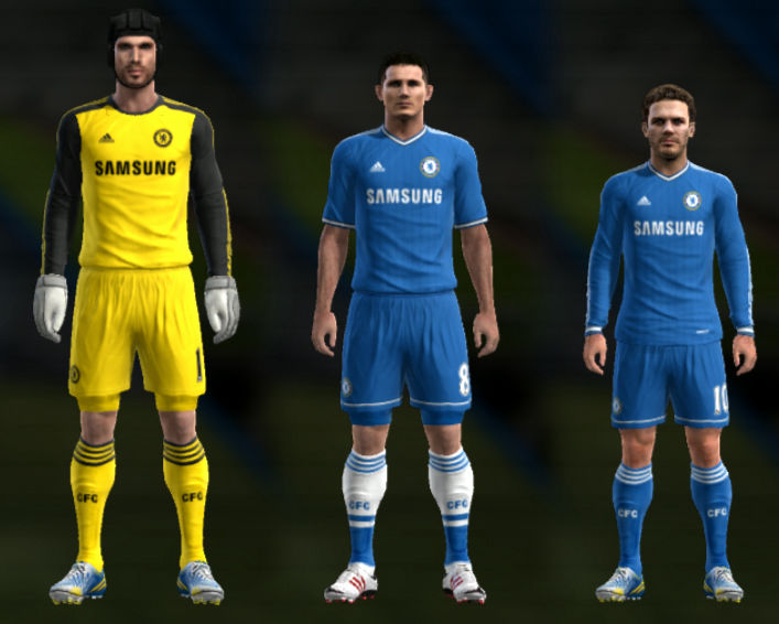 Download Chelsea 13-14 Kit Set PES 2013