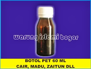 Botol PET Coklat 60 ml