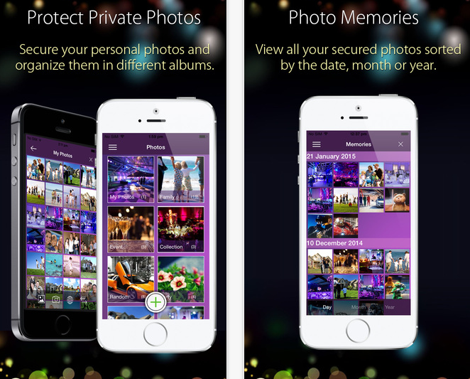Application to lock your photos and videos with a password in the iPhone devices
