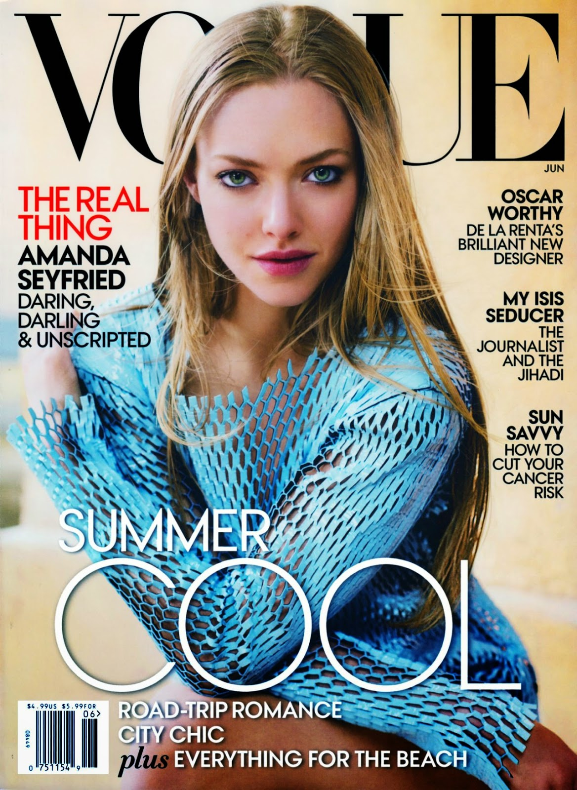 Amanda Seyfried covers Vogue June 2015