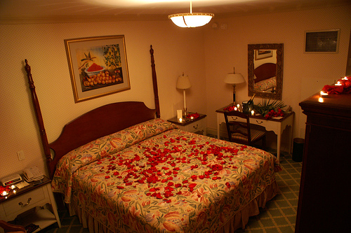 غرف نوم رومنسية