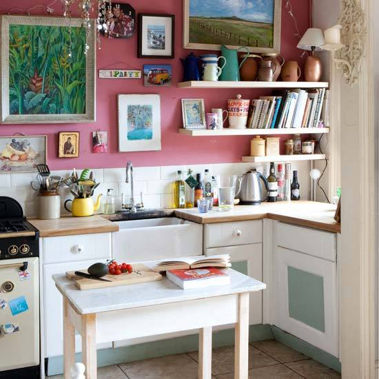 Eclectic White Kitchen: New Home Interior Design: Take A Tour Around An Eclectic