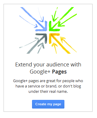 Blogger Create A Google+ Page Option