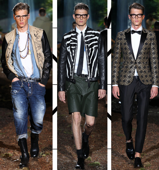 dsquared2 mens spring 2014 jungle collection