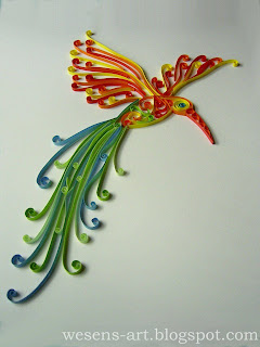 Quilling Bird   wesens-art.blogspot.com