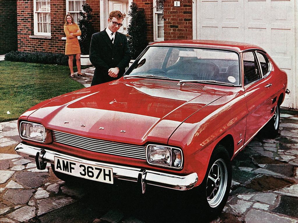 Ford Capri 1600 XL (1969). Libelles : 1969, Ford Capri