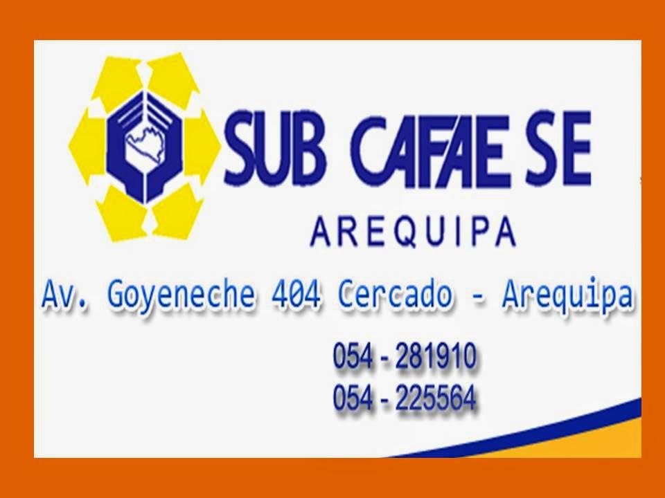 SUB CAFAE EDUCACIÓN AREQUIPA