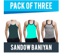 Shopclues: Buy Demokrazy Cotton Plain Sando Pack Of 3 at Rs.179