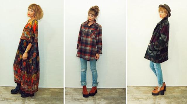 #90s #grunge #fall #fashion #idlized #etsy #2013 #plaid #jacket #coat #bagdress