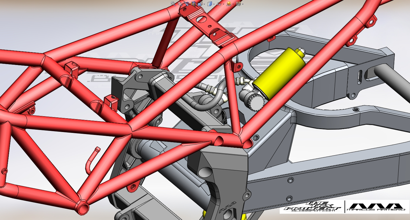 The TRX Project. The Yamaha TRX 850 blog: First parts mounted. Rear ...