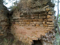 Detall de l'inici de la volta de la Capella de Sant Miquel