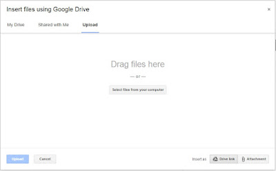 google drive as attachment