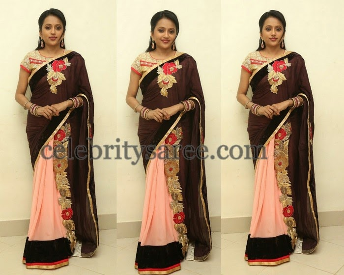 Suma Anchor Rose Work Saree