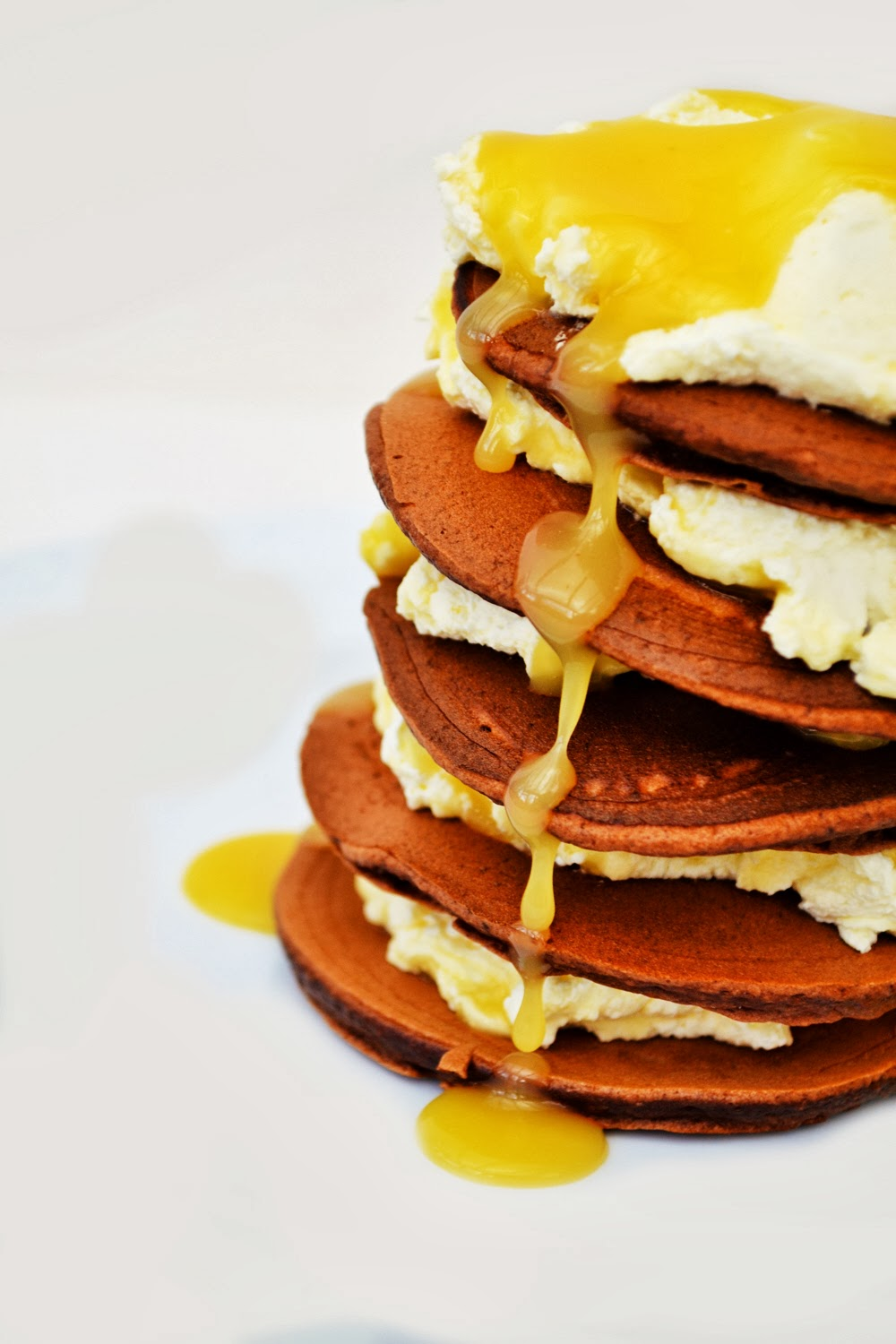 Chocolate and Lemon Curd Pancakes