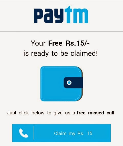 Paytm Latest Offer - Earn Rs 15 Wallet Cash Free of Cost