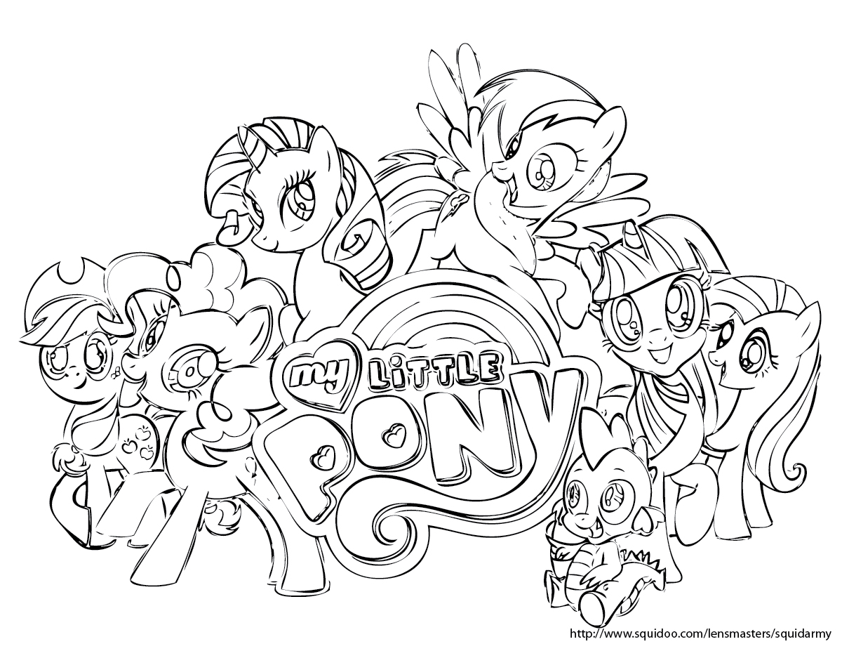 My Little Pony Coloring Pages Cutie Mark : My little pony coloring pages squid army