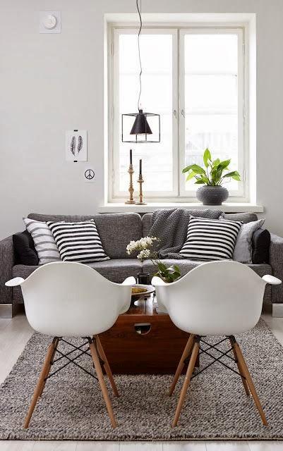 Decoraci n salones blancos y grises monicositas blog Sofas grises decoracion