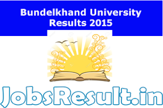 Bundelkhand University Results 2015