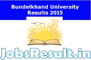 Bundelkhand University Results 2015