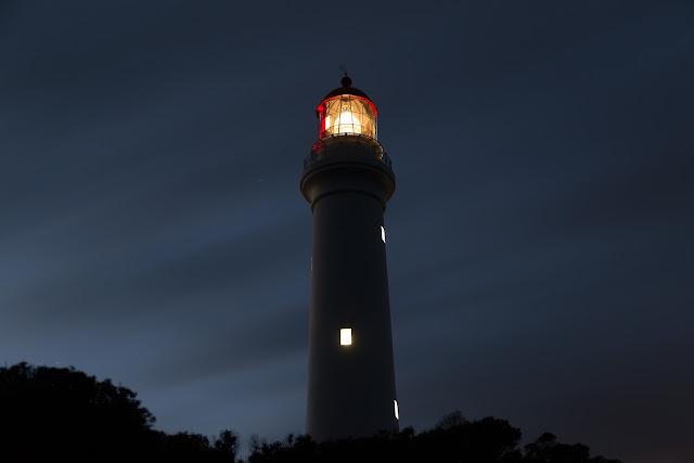 split point lighthouse after sunset