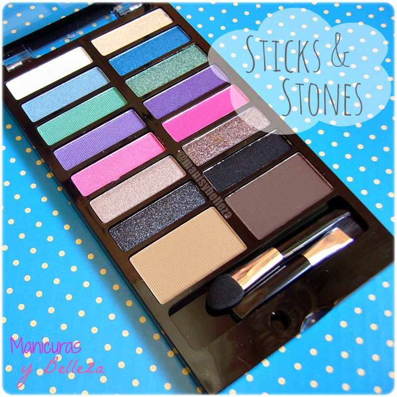 Paleta de sombras de ojos y cejas Awesome - Sticks & Stones de MakeUp Revolution | Awesome Eyeshadow and Eyebrow Palette (Maquillalia)
