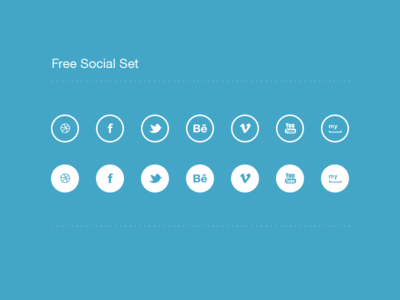 Social Icon Set (Free psd)