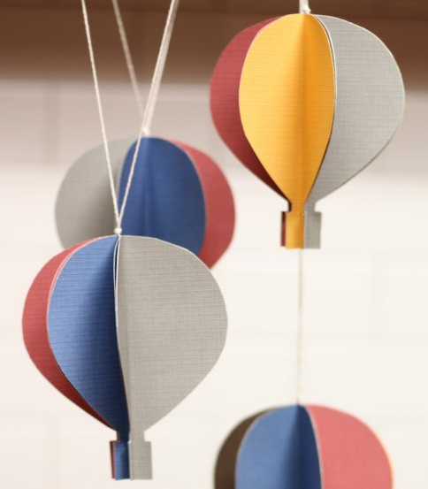 Incircle Interiors Hot Air Balloon Mobile