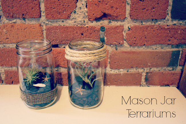 DIY Mason Jar Terrariums from @meetmakelaugh